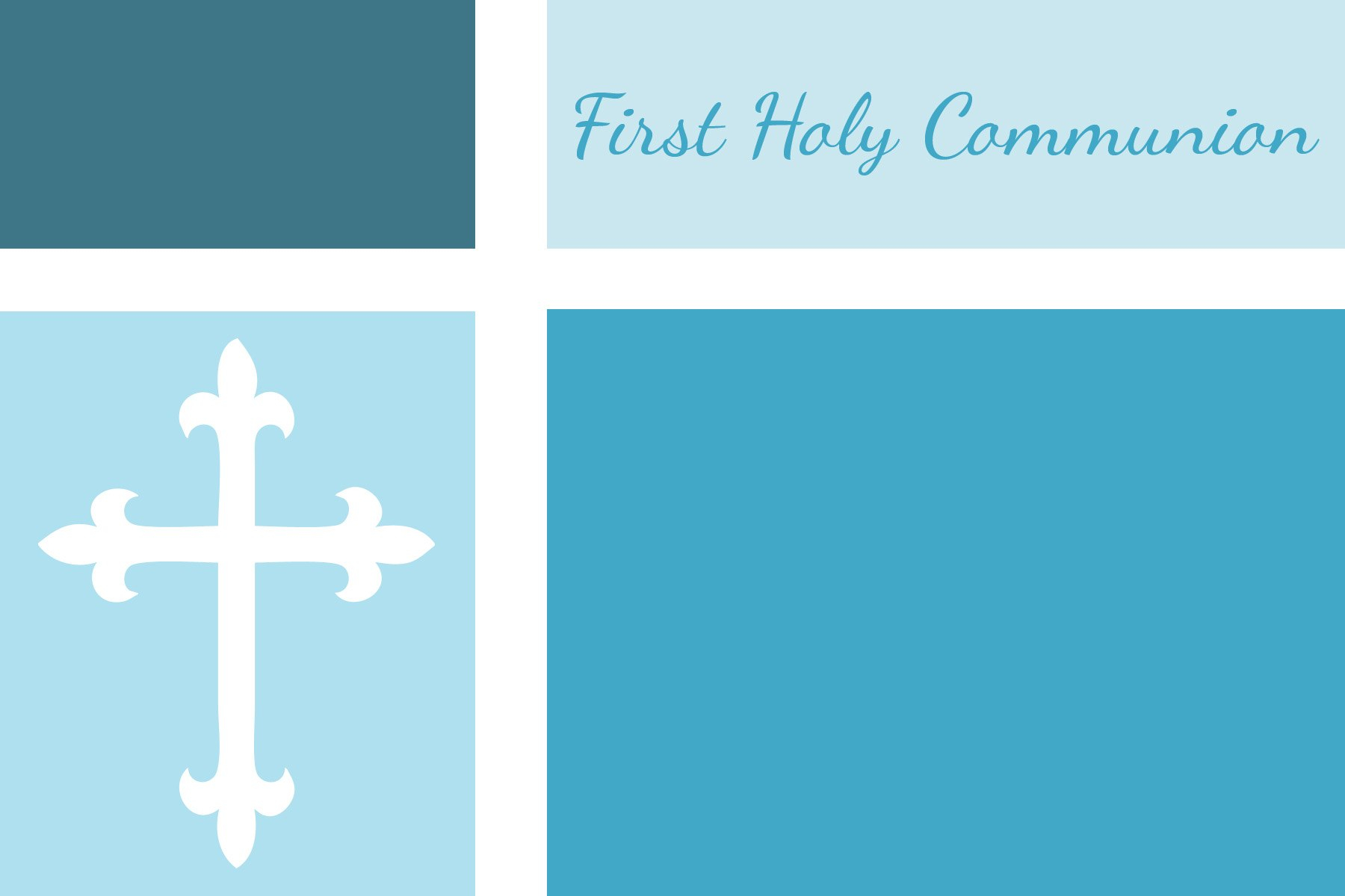 First Communion Baptism And Confirmation Invitations Or For Free Printable First Communion Banner Templates