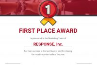 First Place Award Certificate Template Template  Venngage pertaining to First Place Certificate Template