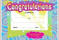 First Prize Winner Certificate Template Congratulations in Congratulations Certificate Word Template
