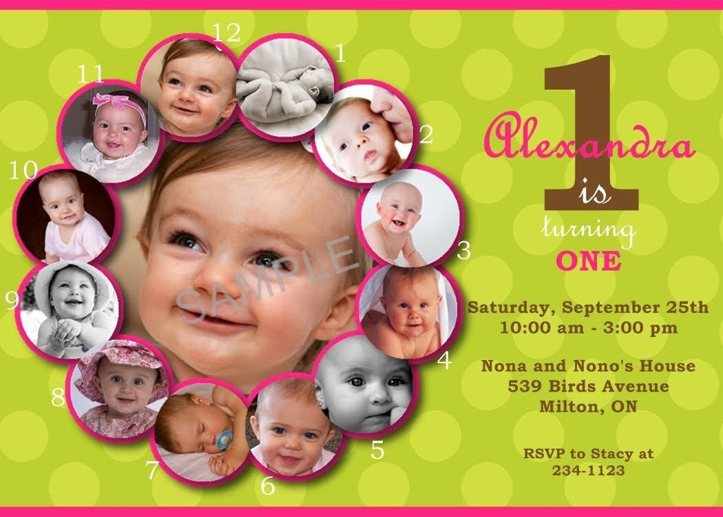 Firstbirthdayinvitationswording  Birthday Invitations Template Inside First Birthday Invitation Card Template