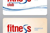 Fitness Club Membership Card Design Template Royalty Free Cliparts pertaining to Gym Membership Card Template