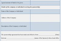 Five Doubts You Should Clarify About  Form Information intended for Corporate Sponsorship Agreement Template