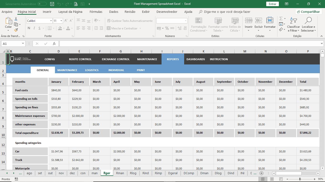 Fleet Management Spreadsheet Excel  Luz Spreadsheets With Regard To Fleet Management Report Template
