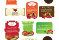 Food Label Design Template Free with Food Product Labels Template