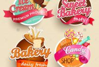 Food Label Or Sticker  Bakery Ice Cream Candy Sweet Bakery Stock pertaining to Sweet Labels Template