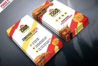 Food Restaurant Business Card Psdpsd Freebies On Dribbble with Restaurant Business Cards Templates Free
