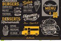 Food Truck Menu Template Stock Vector Illustration Of Hand in Food Truck Menu Template
