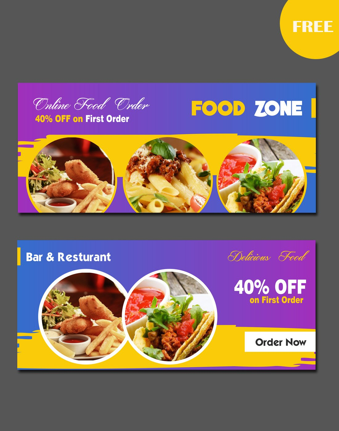 Food Website Banners With Food Banner Template