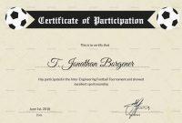 Football Certificate Templates Brochure Free Fantasy Award Template regarding Football Certificate Template