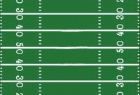 Football Field Template I Made For A Sign  Hunter's St Football for Blank Football Field Template