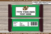 Football Hershey Candy Bar Wrappers  Personalized Candy Bars with Hershey Labels Template