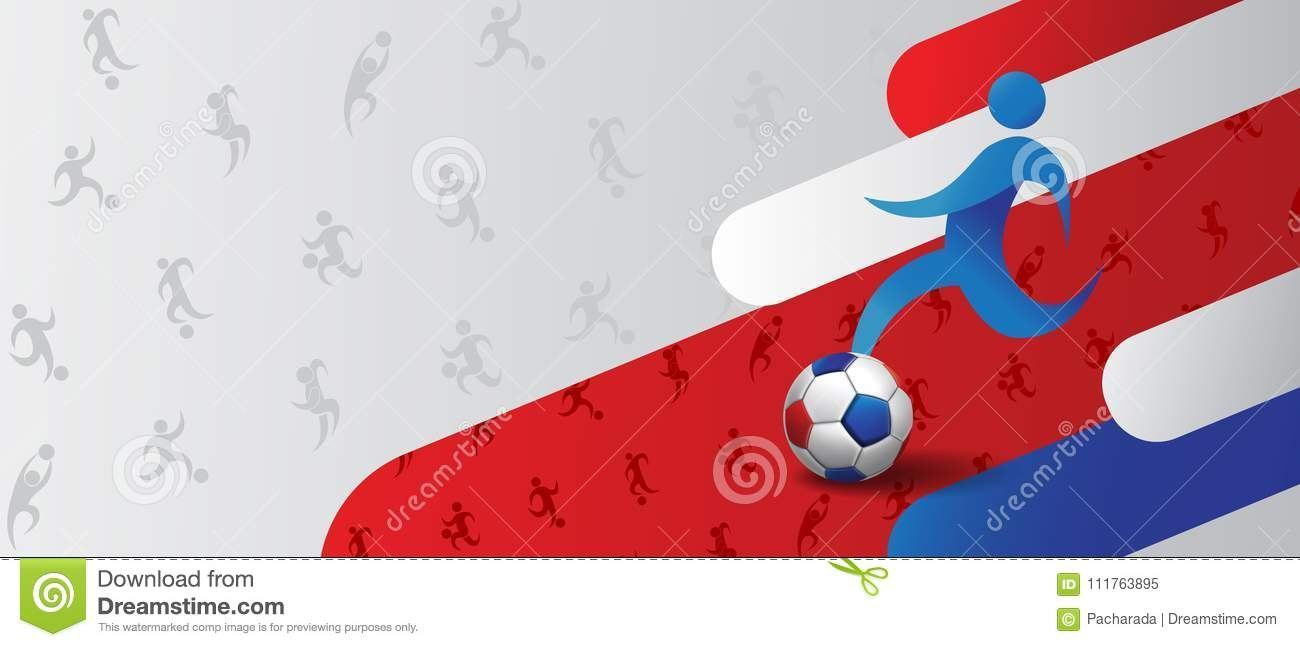 Football Soccer Poster Banner Template Vector Illustration For Sports Banner Templates
