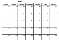 For Month At A Glance Blank Calendar Template  Free Calendar Collection for Month At A Glance Blank Calendar Template