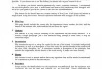 Formal Lab Report Template Frightening Ideas Biology Chemistry with Physics Lab Report Template