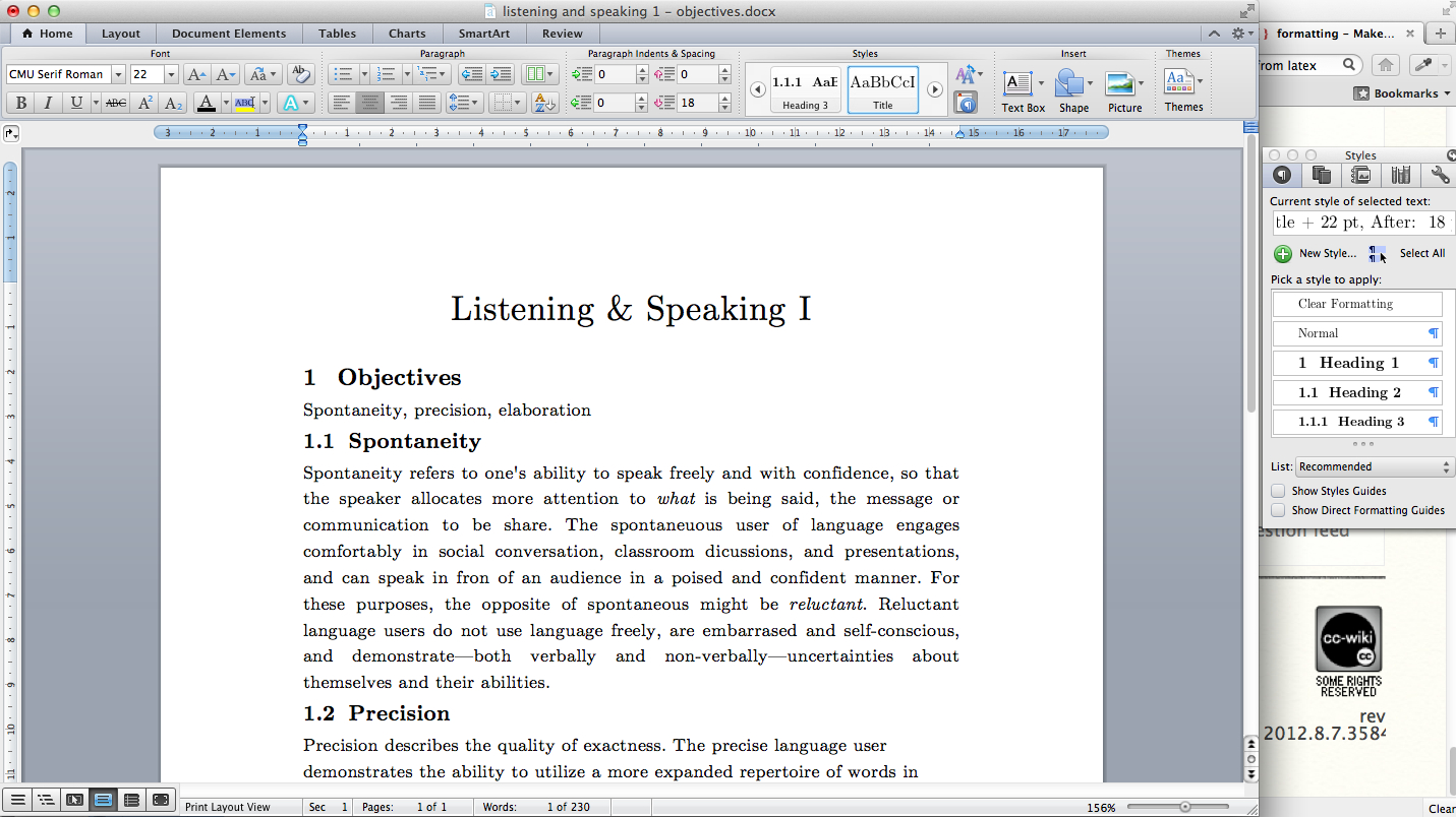 Formatting  Make Ms Word Document Look Like It Has Been Typeset In With Ms Word Thesis Template
