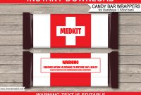 Fortnite Hershey Candy Bar Wrappers  Medkit Candy Bar Party Favors throughout Hershey Labels Template