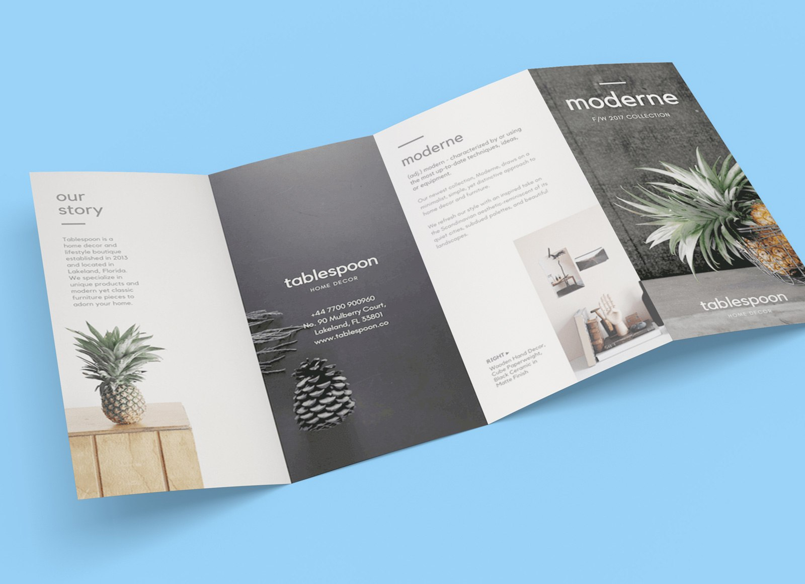 Four Fold Brochure Templates  Free Download  Dtemplates Regarding 2 Fold Brochure Template Free