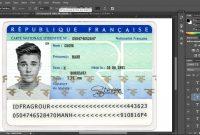 France Id Card Editable Psd Template Photoshop Template  Psd with French Id Card Template