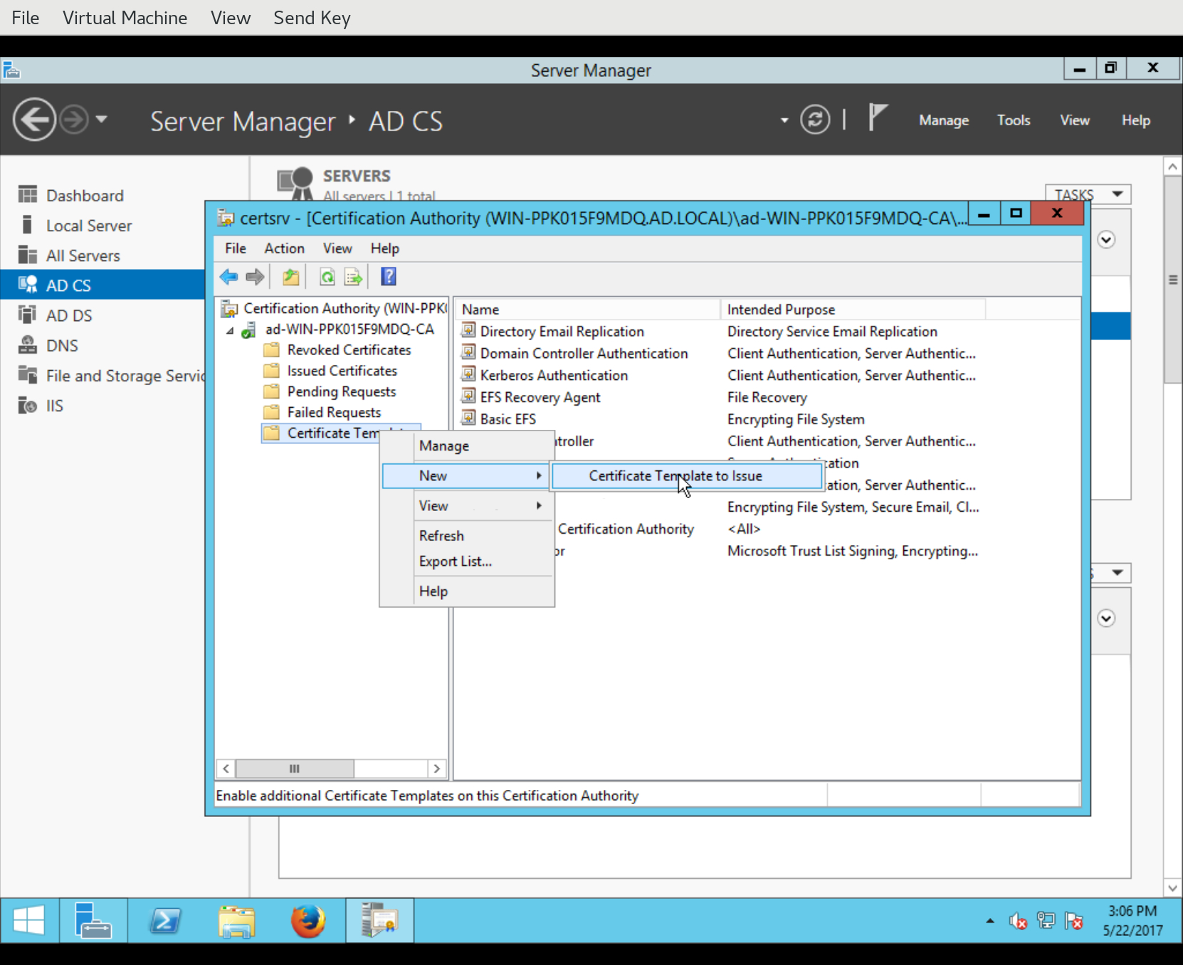 Fraser's Idm Blog  Installing Freeipa With An Active Directory For Active Directory Certificate Templates