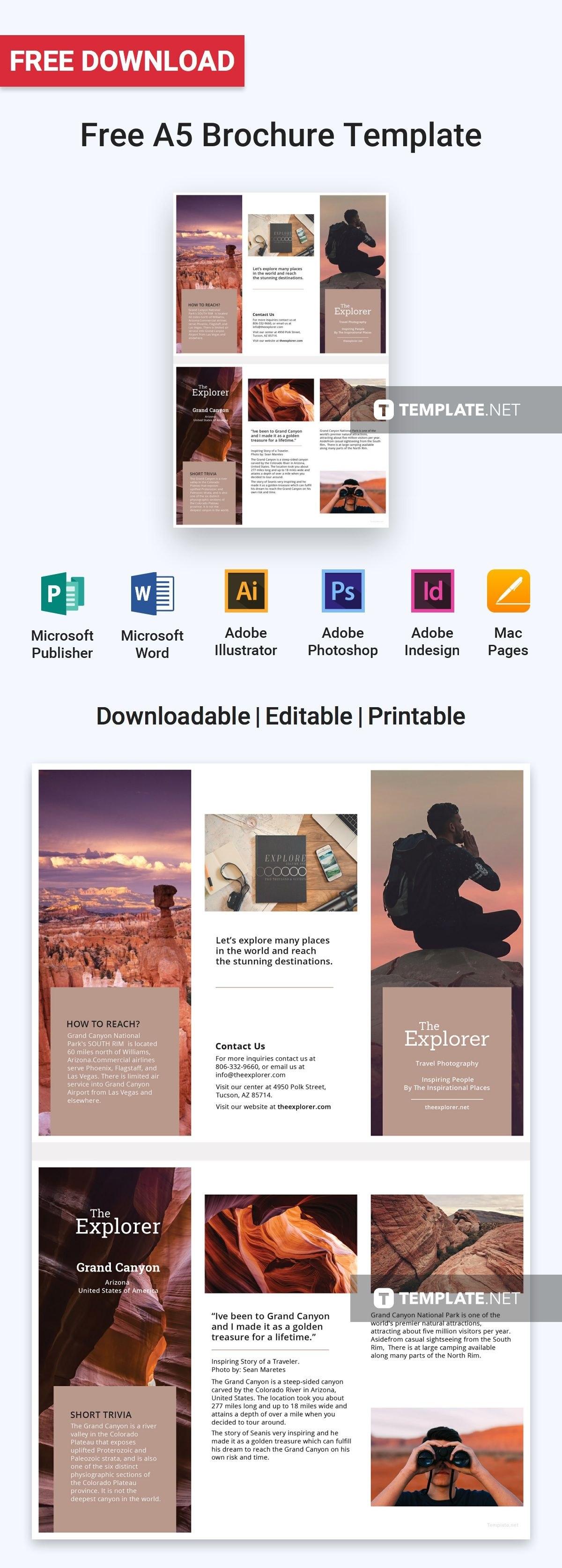 Free A Brochure  Brochure Templates  Design   Brochure Intended For Illustrator Brochure Templates Free Download