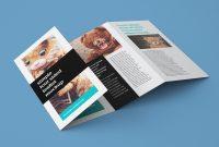 Free Accordion Fold Brochure  Leaflet Mockup Psd Templates  Good inside Quad Fold Brochure Template