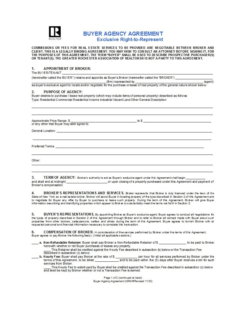 Free Agency Agreement Templates Ms Word ᐅ Template Lab In Negotiated Risk Agreement Template