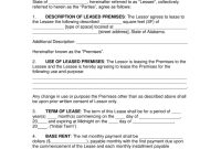 Free Alabama Commercial Lease Agreement Template  Pdf  Word regarding Business Lease Agreement Template Free