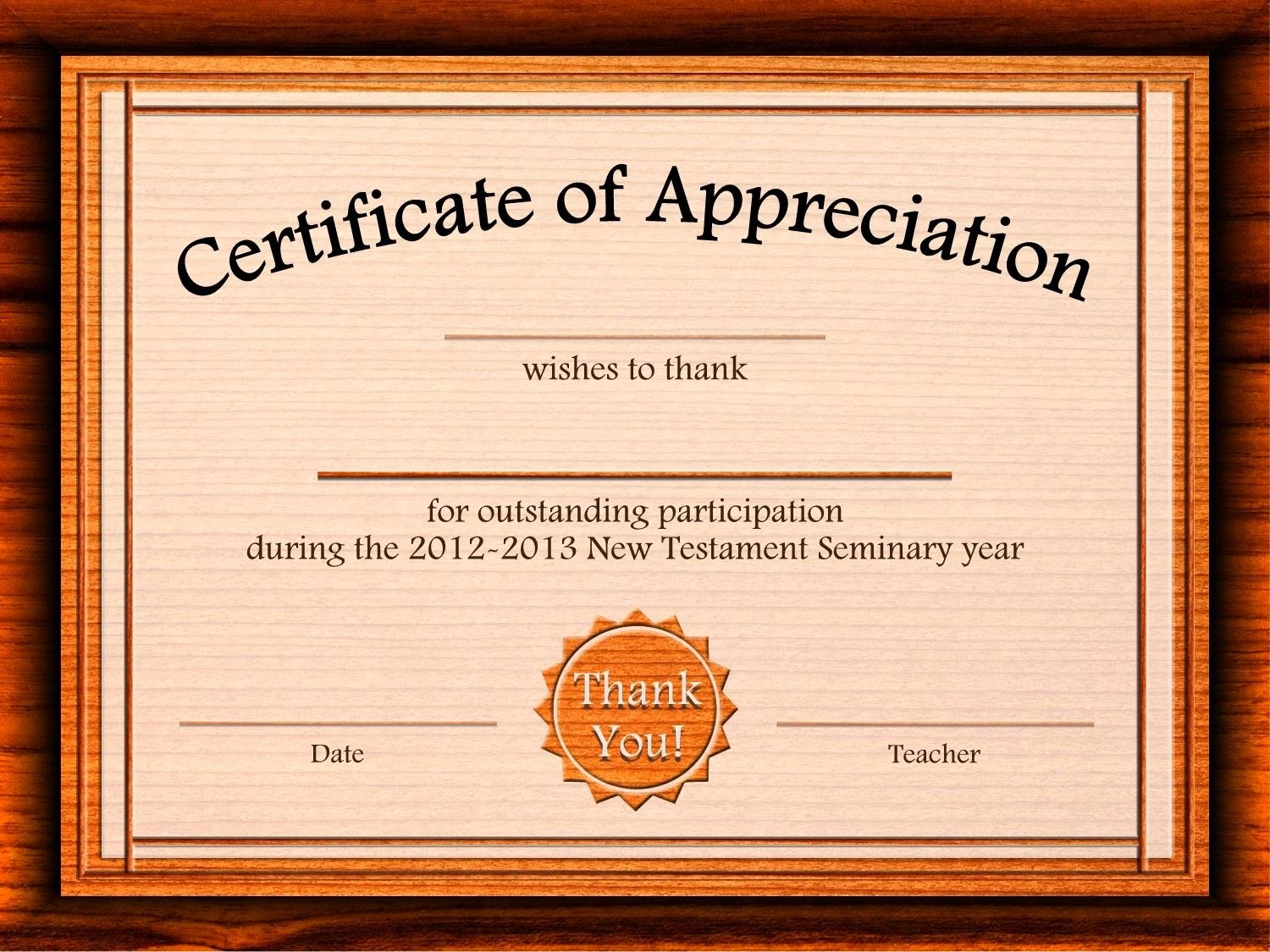 Free Appreciation Certificate Templates Supplier Contract Template Throughout Award Certificate Template Powerpoint