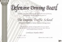 Free Arizona Traffic School Easy Online Courses Improv® Defensive inside Safe Driving Certificate Template