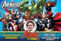 Free Avengers Birthday Invitation  Dioskouri Designs regarding Avengers Birthday Card Template