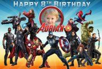 Free Avengers Birthday Tarpaulin  Dioskouri Designs within Avengers Birthday Card Template