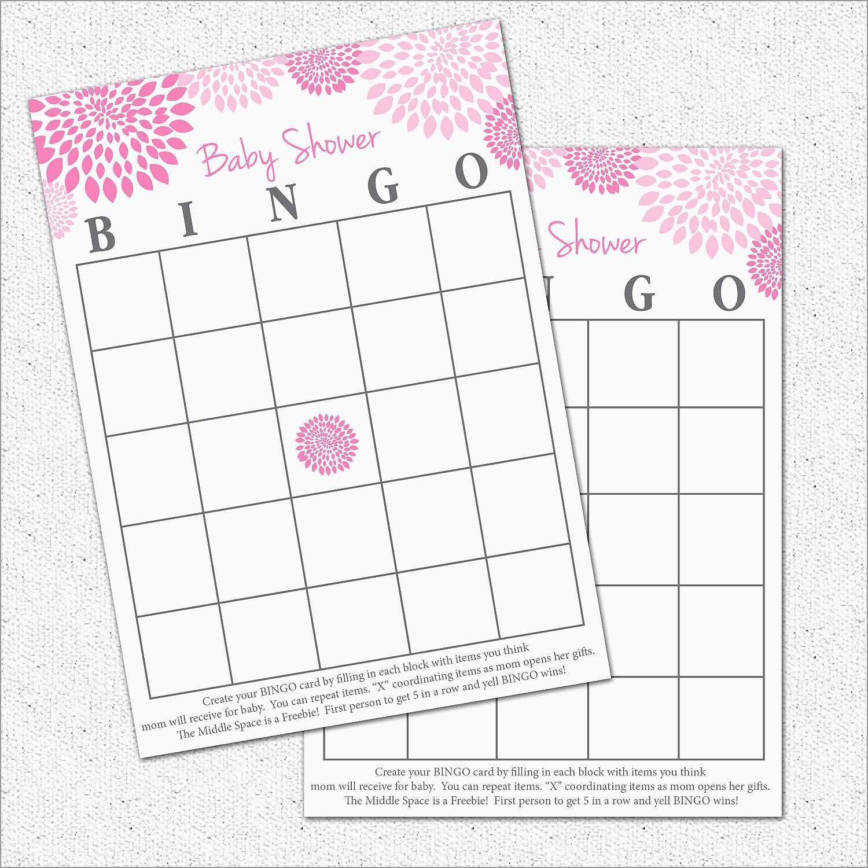 Free Baby Shower Bingo Blank Template Inspirational  Best Ideas Pertaining To Blank Pattern Block Templates