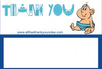 Free Baby Shower Thank You Notes And Cards for Template For Baby Shower Thank You Cards