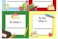 Free Back To School Book Labels For Kids  Kids  School Labels intended for Book Label Template Free