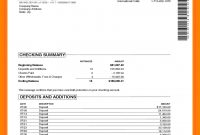 Free Bank Statement Template Format Download Sample Breathtaking intended for Blank Bank Statement Template Download