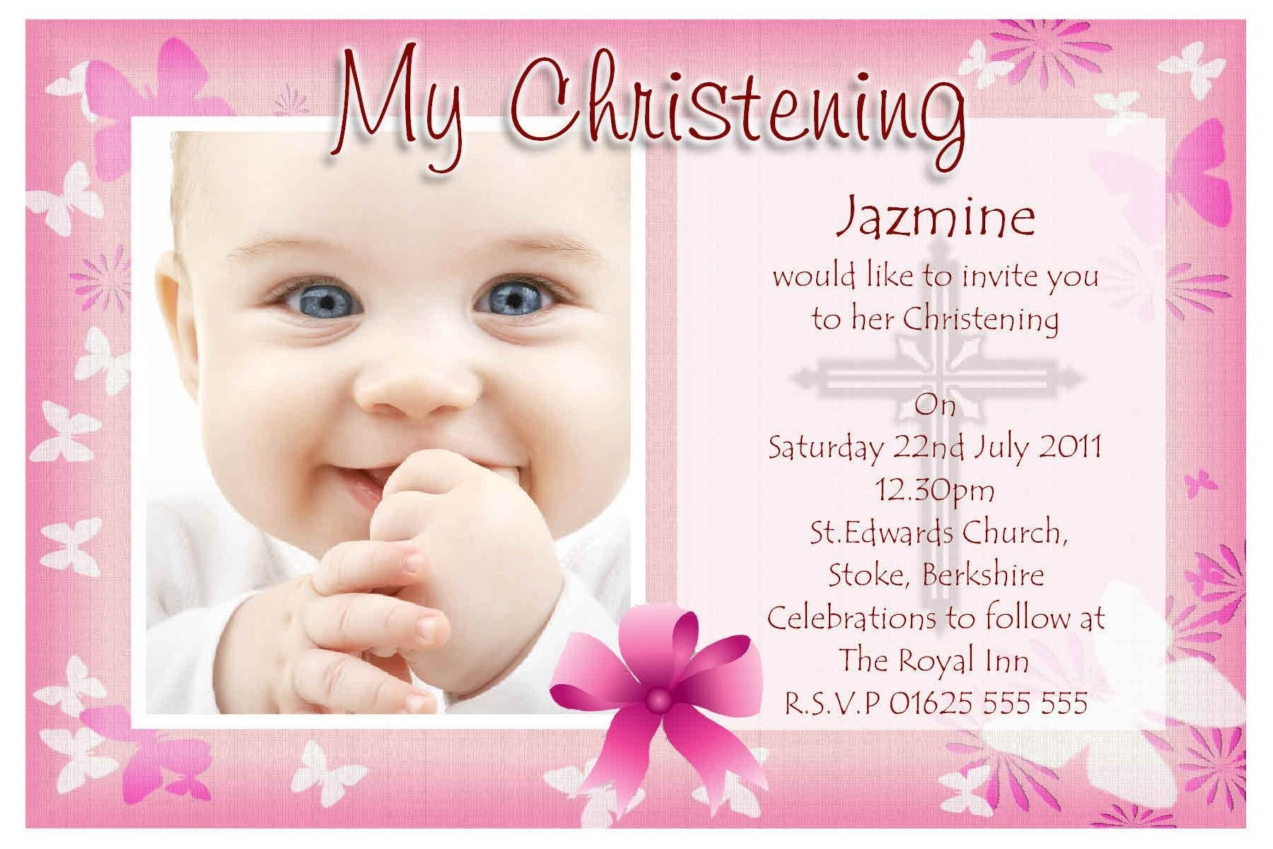 Free Baptism Invitation Templates Printable  Einladungskarten For Free Christening Invitation Cards Templates