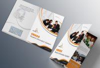 Free Bifold Brochure Psd On Behance pertaining to 2 Fold Brochure Template Psd