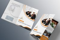 Free Bifold Brochure Psd On Behance throughout Two Fold Brochure Template Psd