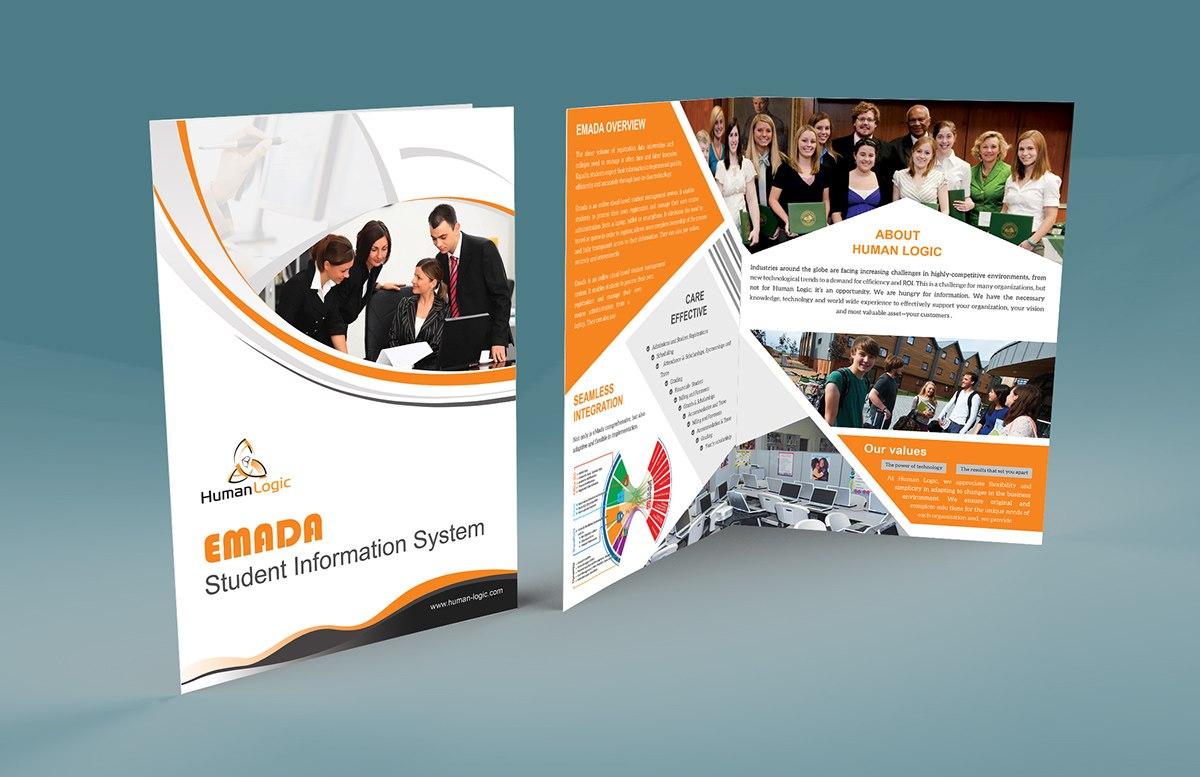 Free Bifold Brochure Psd On Behance With Regard To 2 Fold Brochure Template Psd