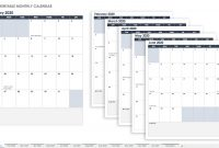 Free Blank Calendar Templates  Smartsheet pertaining to Blank Monthly Work Schedule Template
