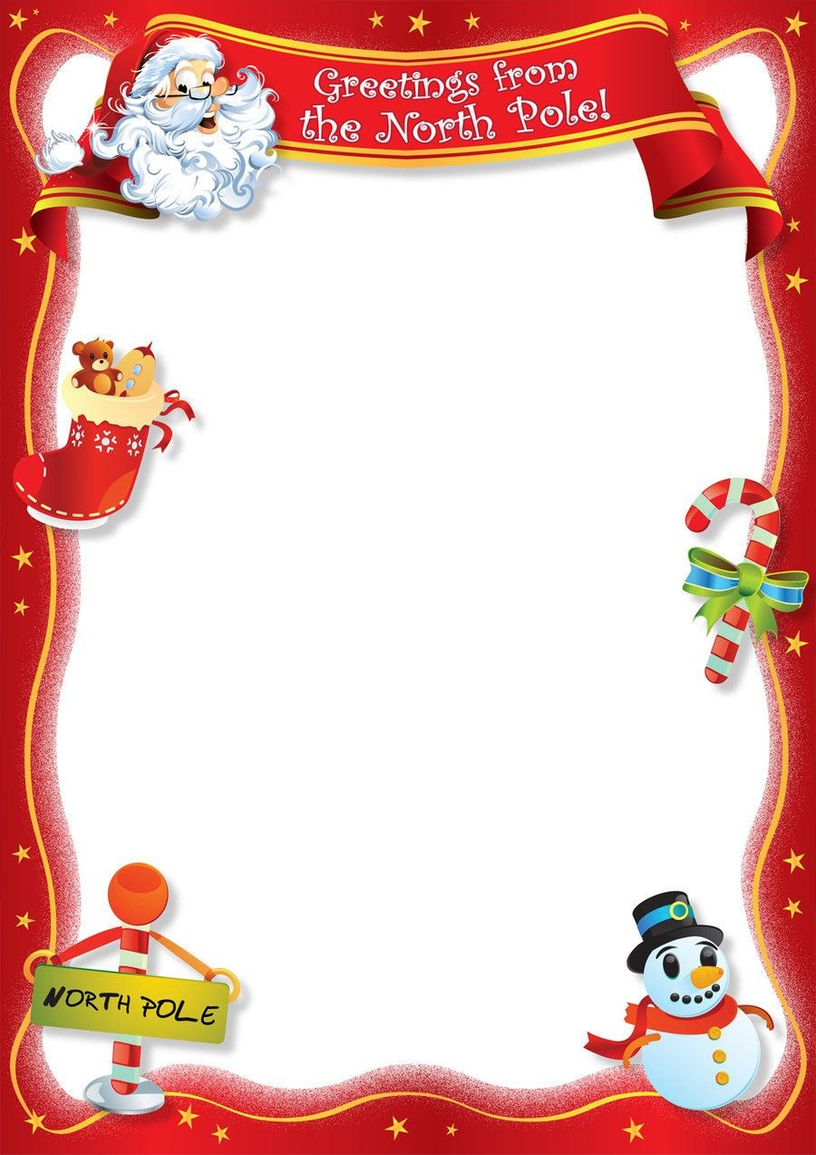 Free Blank Letter From Santa Template New Calendar Template Site Regarding Blank Letter From Santa Template