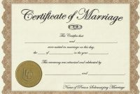 Free Blank Marriage Certificate Template  Toha pertaining to Blank Marriage Certificate Template