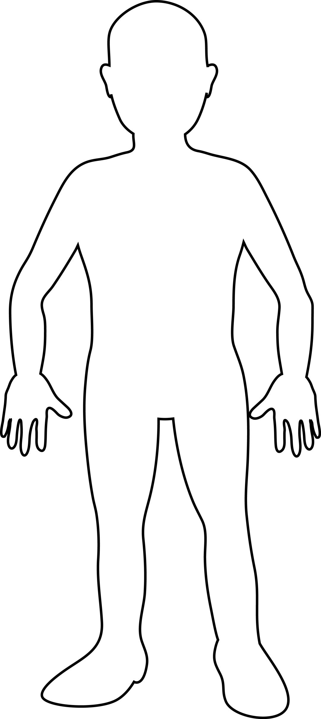 Free Blank Person Outline Download Free Clip Art Free Clip Art On Inside Blank Body Map Template