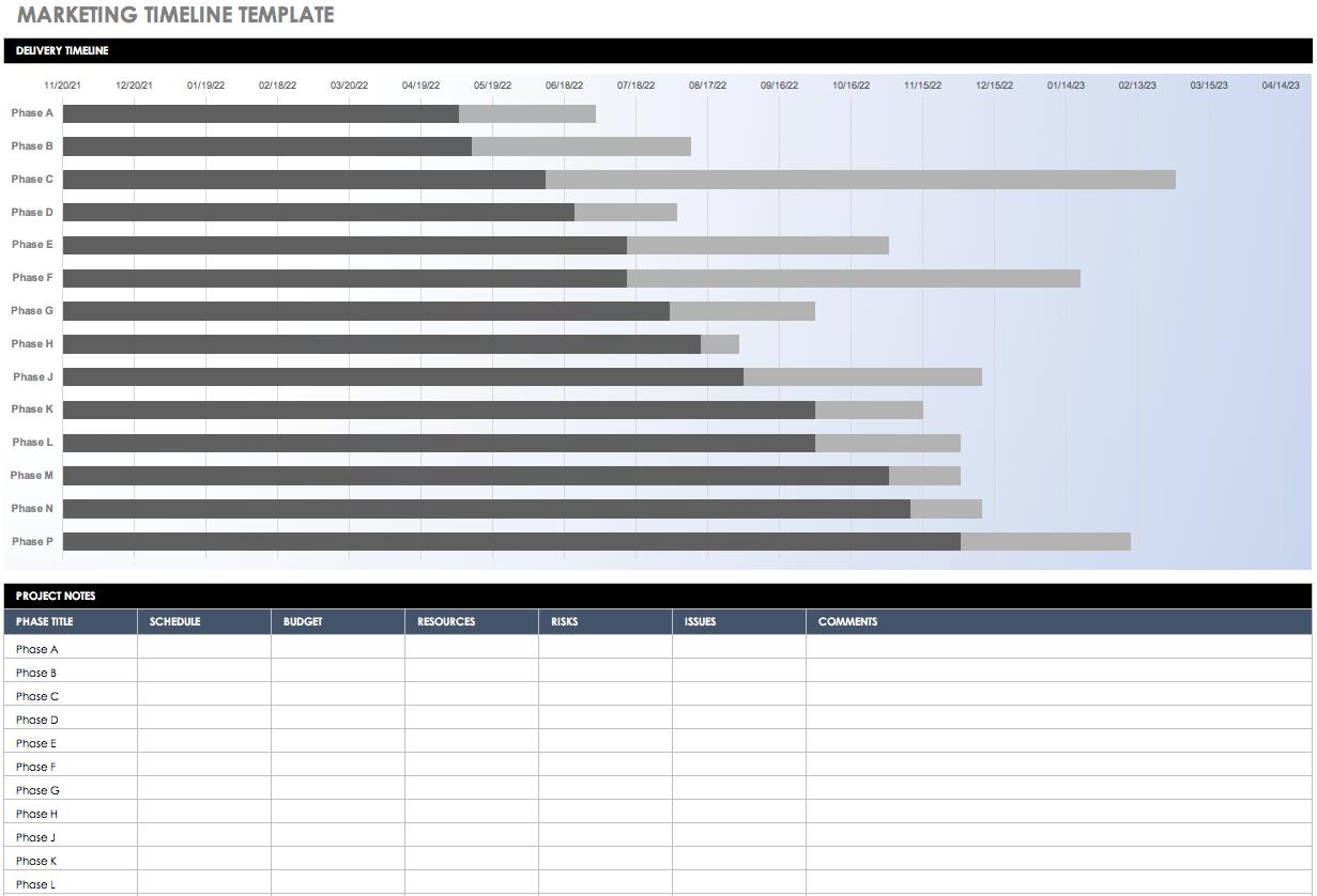 Free Blank Timeline Templates  Smartsheet For Blank Scheme Of Work Template