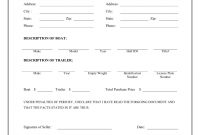 Free Boat  Trailer Bill Of Sale Form  Download Pdf  Word with regard to Credit Sale Agreement Template