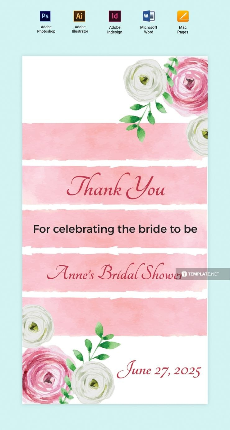 Free Bridal Shower Thank You Tag In   Dreamwedding  Thank You Regarding Bridal Shower Label Templates