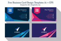 Free Business Card Designer Or  Free Professional Premium Business with Business Card Maker Template