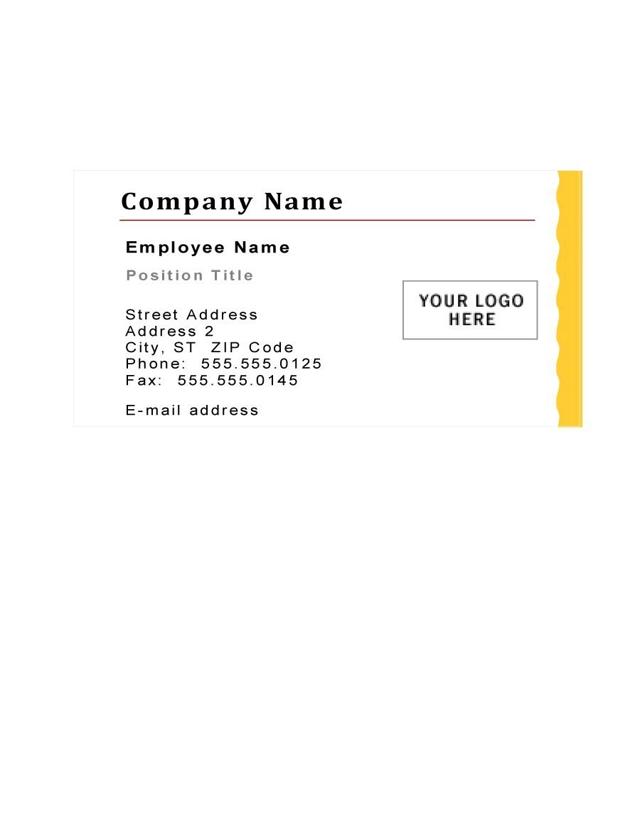 Free Business Card Templates ᐅ Template Lab Intended For Generic Business Card Template