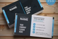 Free Business Card Templates Psd  Download Psd for Visiting Card Template Psd Free Download