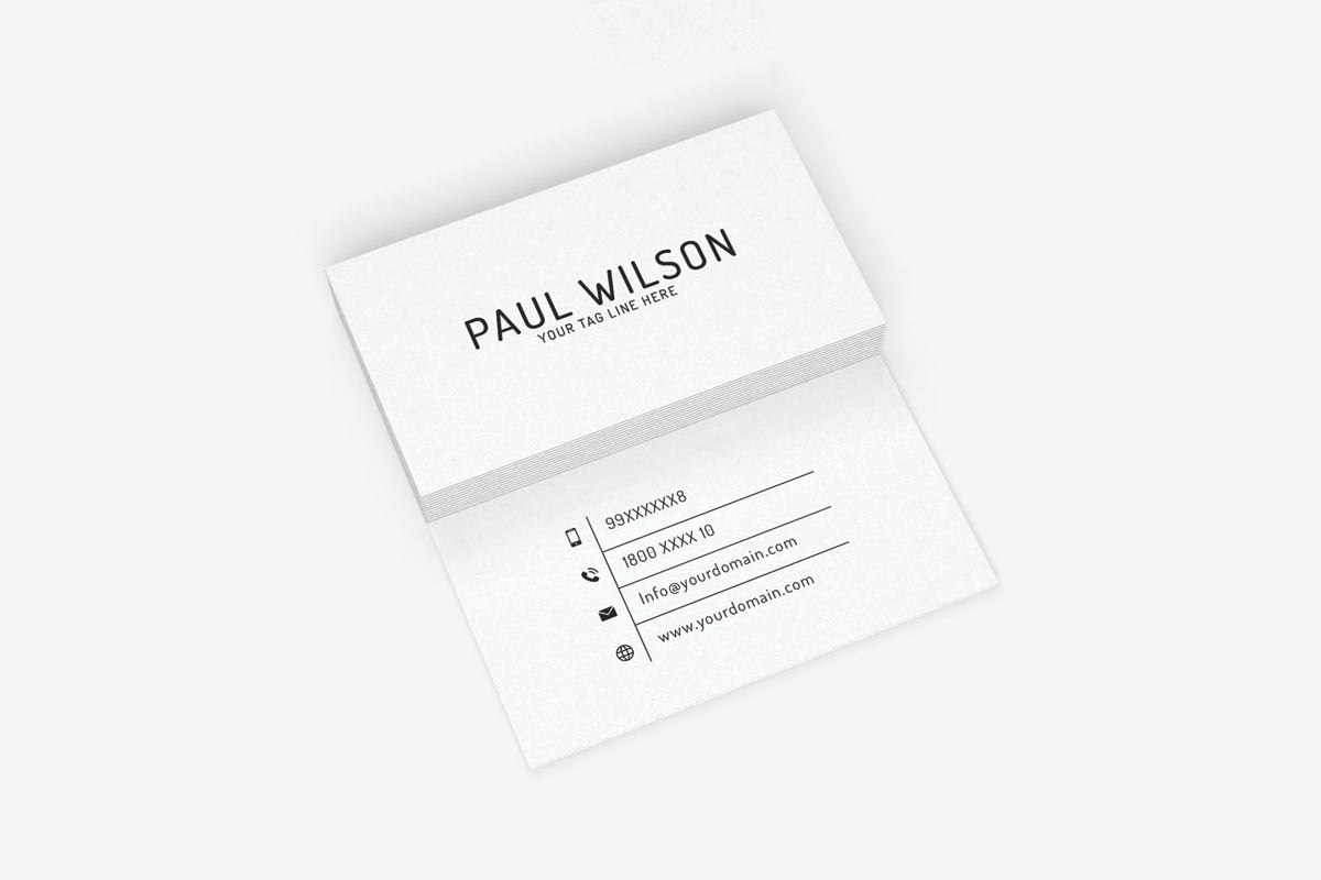 Free Business Cards Psd Templates  Creativetacos Pertaining To Business Card Size Template Psd
